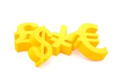 Simboli di valuta Fotografie Stock