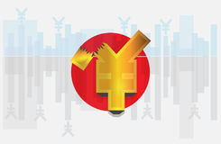 Simboli di valuta Immagini Stock