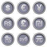 Simboli di valuta Fotografie Stock Libere da Diritti