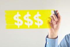 Simboli di valuta del dollaro Fotografia Stock