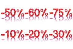 Simboli di vendita di vettore Illustrazione Vettoriale