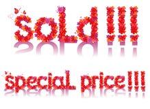 Simboli di vendita di vettore Illustrazione di Stock