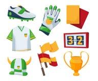 Simboli di vettore per la concorrenza di calcio Immagini Stock Libere da Diritti