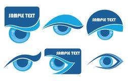 Simboli di visione Immagine Stock