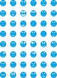 Simboli, distintivi, icone con le espressioni delle persone Immagini Stock