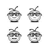 Simboli divertenti della TV in vetri - icone di vettore royalty illustrazione gratis