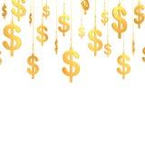 Simboli dorati di Hung Dollar (3d rendono) Fotografia Stock