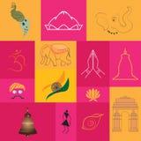 Simboli e monumenti dell'India royalty illustrazione gratis