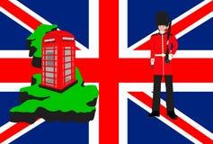 Simboli e progettazione di viaggio della Gran Bretagna Immagini Stock