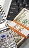 Simboli e segni della comunicazione e della ricchezza, successo Fotografia Stock