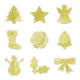 Simboli festivi - oro Fotografia Stock