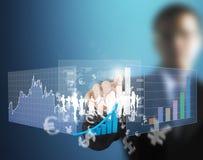 Simboli finanziari del touch screen Fotografia Stock Libera da Diritti