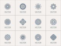 Simboli geometrici di vettore Fotografia Stock