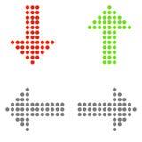 Simboli isolati della freccia illustrazione di stock