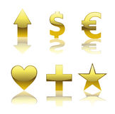 Simboli lucidi Fotografie Stock Libere da Diritti