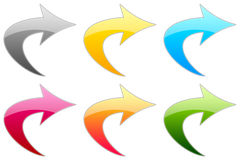 Simboli lucidi Fotografia Stock