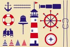 Simboli marini Fotografie Stock Libere da Diritti