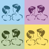 Simboli maschii e femminili Immagine Stock Libera da Diritti