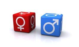 Simboli maschii e femminili di genere Fotografia Stock Libera da Diritti