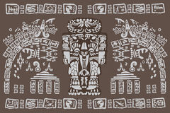 Simboli maya antichi Immagini Stock