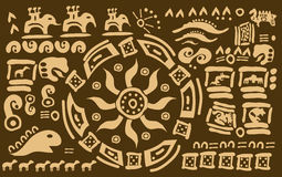 Simboli maya mistici Fotografie Stock Libere da Diritti