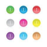 Simboli medici della stella a colori il cerchio illustrazione di stock