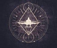 Simboli mistici esoterici Immagini Stock Libere da Diritti