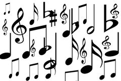 Simboli musicali Fotografia Stock