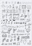 Simboli musicali Immagine Stock Libera da Diritti