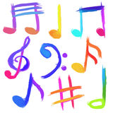 Simboli musicali Immagine Stock