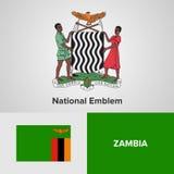 Simboli nazionali dello Zambia Fotografie Stock Libere da Diritti