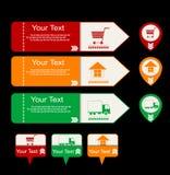 Simboli online di acquisto Immagini Stock