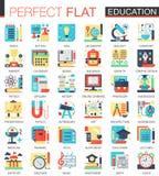 Simboli piani complessi di concetto dell'icona di vettore di istruzione per progettazione infographic di web illustrazione vettoriale
