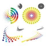 Simboli punteggiati vettore illustrazione vettoriale