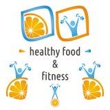 Simboli dell'alimento e di salute Fotografia Stock Libera da Diritti
