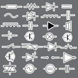 Simboli schematici negli autoadesivi eps10 di elettrotecnico Illustrazione di Stock