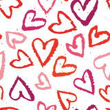 Simboli senza cuciture astratti del cuore del fondo Immagini Stock Libere da Diritti