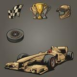 Simboli stabiliti di sport dell'automobile F1 Fotografia Stock