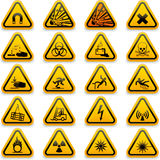 Simboli standard di rischio Fotografie Stock