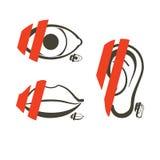 Simboli umani di anatomia Fotografia Stock Libera da Diritti