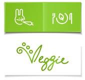 Simboli vegetariani di dieta Fotografie Stock