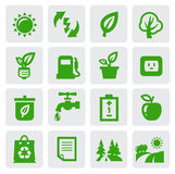 Simboli verdi di eco Immagine Stock