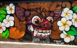 Simbolismo hindú en pintada del arte de la calle Imagen de archivo libre de regalías