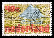 Simbolismo: terra do mar, serie do projeto de Zuiderzee, cerca de 1976 imagem de stock