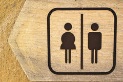 Simbolizzi le toilette Fotografia Stock Libera da Diritti
