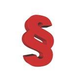 Simbolo 3D rosso di paragrafo Fotografia Stock