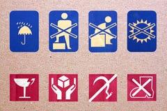 Simbolo accanto alla scatola. Immagini Stock Libere da Diritti