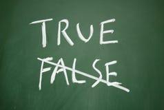 Simbolo allineare e falso Immagine Stock