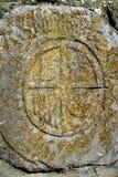 Simbolo antico del Camino di Santiago in pietra Fotografia Stock Libera da Diritti