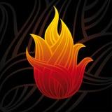 Simbolo astratto di fuoco Fotografia Stock